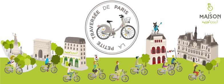 La Petite Traversée de Paris à Vélib'