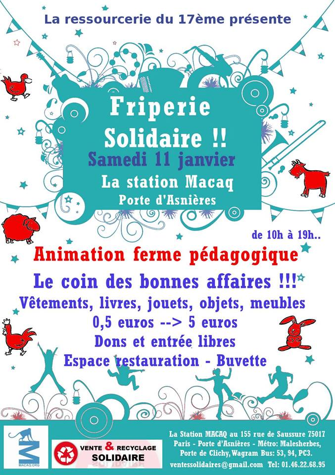 Friperie solidaire 2014