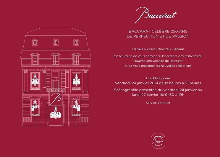 la Maison Baccarat à 250 ans