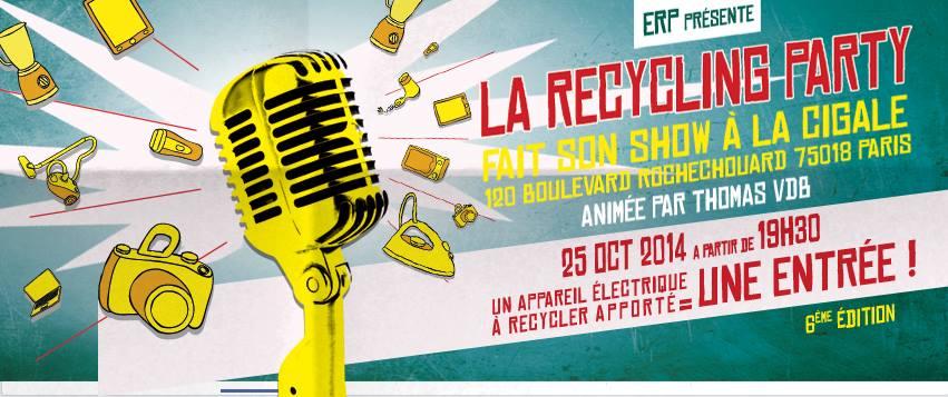 Recycling party  2014 – 6ème édition